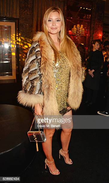 Holly Candy attends a Studio 54 party hosted by Jess Imerman at The Dorchester on May 7 2016 in London England