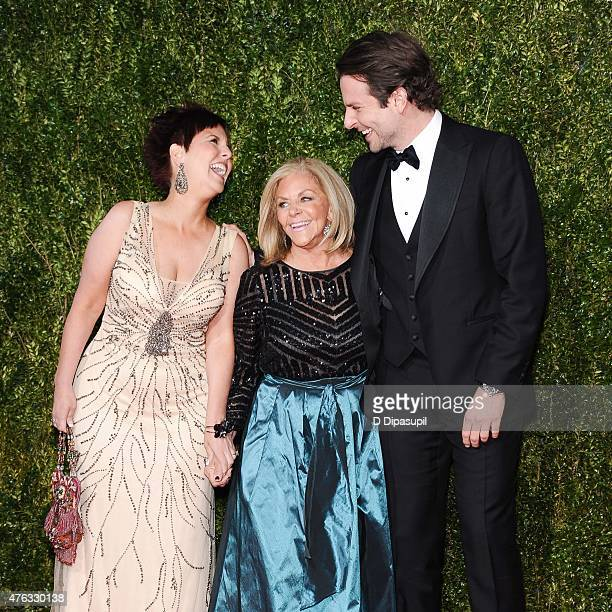Holly Cooper Gloria Campano and Bradley Cooper attend the American Theatre Wing's 69th Annual Tony Awards at Radio City Music Hall on June 7 2015 in...