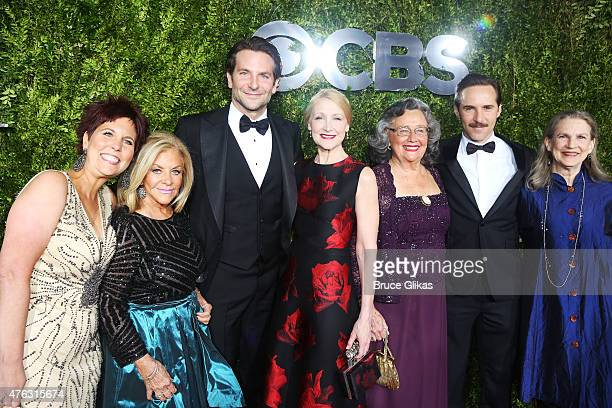 Holly Cooper Gloria Campano Bradley Cooper Patricia Clarkson Jackie Clarkson Alessandro Nivola and Virginia Nivola attend the American Theatre Wing's...
