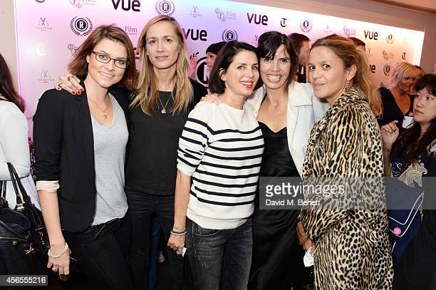 Holly Davidson Emma Comley Sadie Frost Zoe Grace and Lisa Moorish attend the UK Premiere of 'Flim The Movie' at the Vue Piccadilly on October 2 2014...
