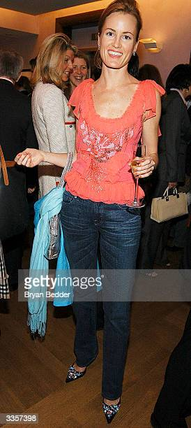 "Holly Dunlap Attends the Plum Sykes ""Bergdorf Blondes"" book launch party April 13, 2004 in New York, New York."
