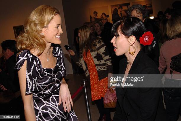 Holly Dunlop and Fairuza Balk attend HOLLYWOULD Fall 2006 Presentation at Christie's Auction House on February 8 2006 in New York