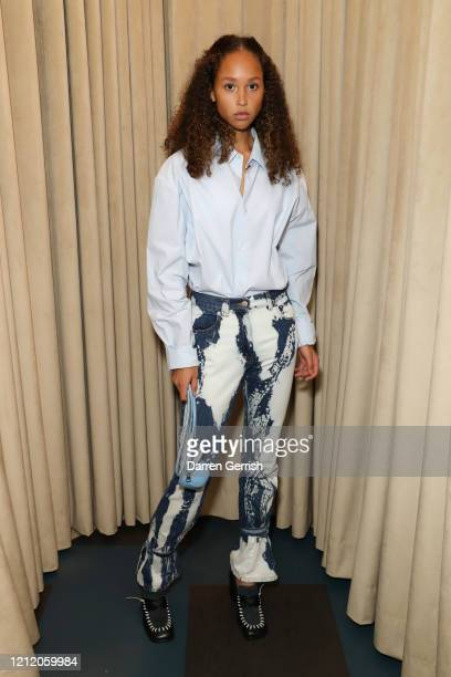 Holly Fischer attends as Jonathan Anderson and Jenny Galimberti celebrate the opening of the new JW Anderson, Soho on March 01, 2020 in London,...