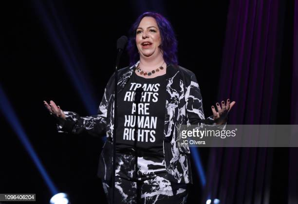 Holly Frey onstage during the 2019 iHeartRadio Podcast Awards Presented By Capital One at iHeartRadio Theater on January 18 2019 in Burbank California