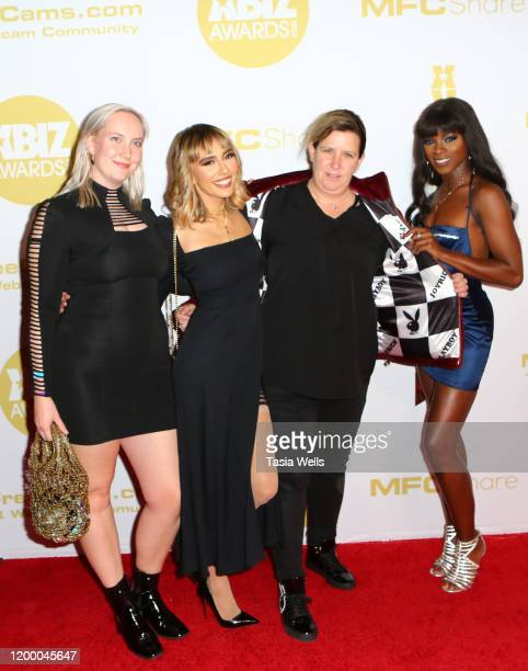 Holly from Playboy Janice Griffith Anna Fox and guest attend the XBIZ Awards 2020 on January 16 2020 in Los Angeles California