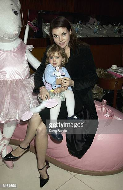 Holly Frost with her neice who is Sadie Frost's daughter at the Angelina Ballerina Nutcracker gala preparty on December 3rd 2002 at the St Martins...