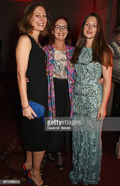 Holly Gilliam Maggie Weston and Amy Gilliam attend a cocktail reception at the BFI Luminous Fundraising Gala in partnership with IWC and crystals by...