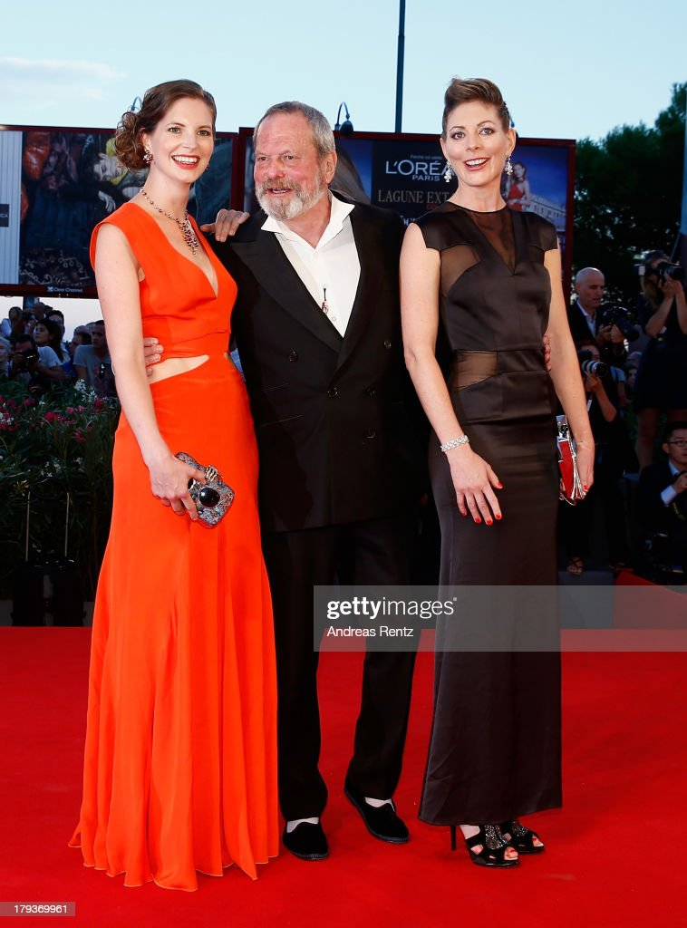 Holly Gilliam, Terry Gilliam and Amy Gilliam attend 'The Zero Theorem' Premiere during the 70th Venice International Film Festival at the Palazzo del Cinema on September 2, 2013 in Venice, Italy.