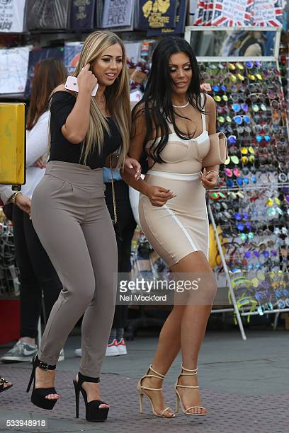Holly Hagan and Chloe Ferry seen in Camden on May 24 2016 in London England