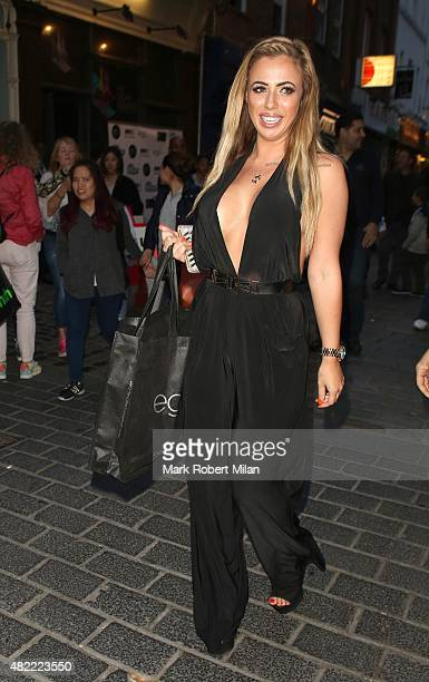 Holly Hagan attending the Macmillan Cancer Support's oneoff blowdry bar on July 28 2015 in London England