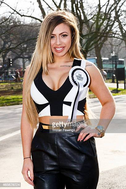 Holly Hagan attends a photocall to launch series 10 of 'Geordie Shore' at Speaker's Corner on March 11 2015 in London England