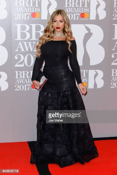 ONLY Holly Hagan attends The BRIT Awards 2017 at The O2 Arena on February 22 2017 in London England