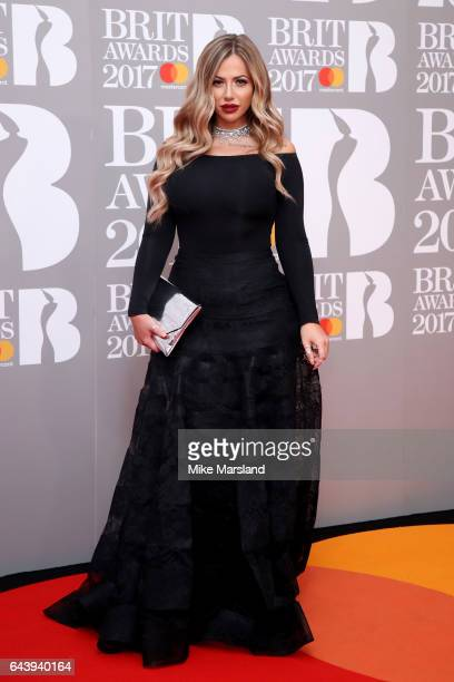 Holly Hagan attends The BRIT Awards 2017 at The O2 Arena on February 22 2017 in London England