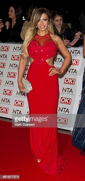 Holly Hagan attends the National Television Awards at 02 Arena on January 21 2015 in London England
