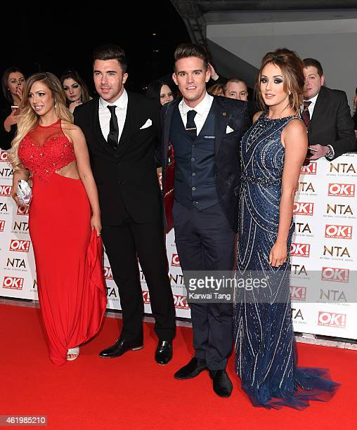 Holly Hagan James Tindale Gaz Beadle and Charlotte Crosby attend the National Television Awards at 02 Arena on January 21 2015 in London England