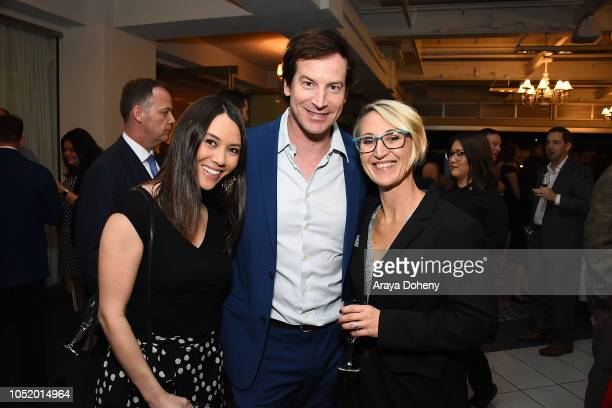 Holly Hannula Rob Huebel and Kari Boatner attend the March of Dimes Signatures Chefs Auction Los Angeles on October 11 2018 in Beverly Hills...