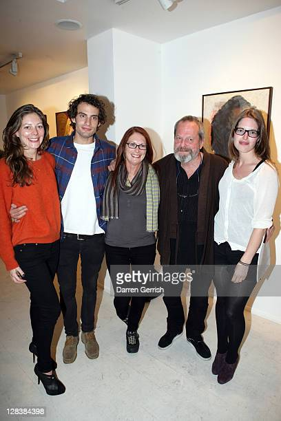 Holly Harry Maggie Weston Terry and Amy Gilliam attend the private view of David Bailey's art exhibition 'Hitler Killed the Duck' at Scream Gallery...