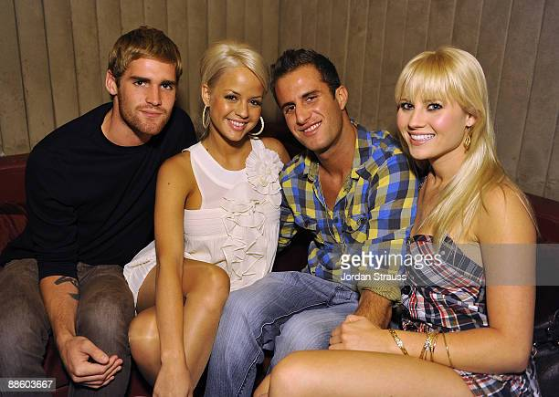 Holly Huddleston and Molly Shea and guests attend the Official OnlineBootyCall Million Dollar Sweepstakes Party at Opera Crimson on June 20 2009 in...