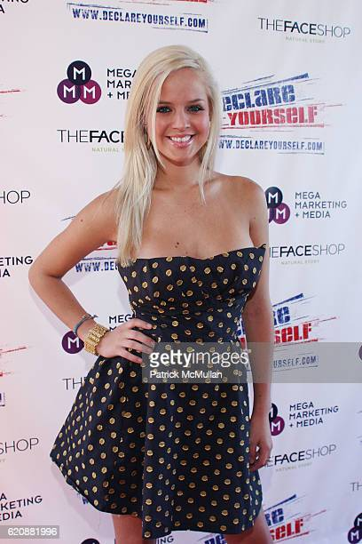 Holly Huddleston attends Christina Milian Hosts Red White Blue Summer Oasis at Private Residence on August 23 2008 in Hollywood CA