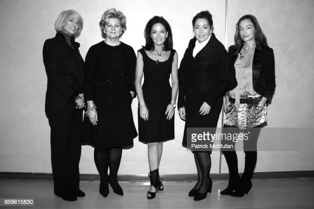 Holly Hunt Charlotte Moss Margaret Russell Michelle Nussbaumer and Kelly Wearstler attend ELLE DECOR's 2nd Annual Salute to WOMEN IN DESIGN at The...