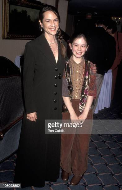 Holly Hunter and Anna Paquin during 1994 Los Angeles Film Critics' Awards November 8 1994 at Bel Age Hotel in West Hollywood California United States