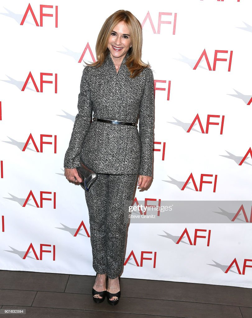 Holly Hunter arrives at the 18th Annual AFI Awards on January 5, 2018 in Los Angeles, California.