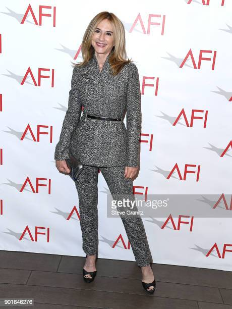 Holly Hunter arrives at the 18th Annual AFI Awards on January 5 2018 in Los Angeles California