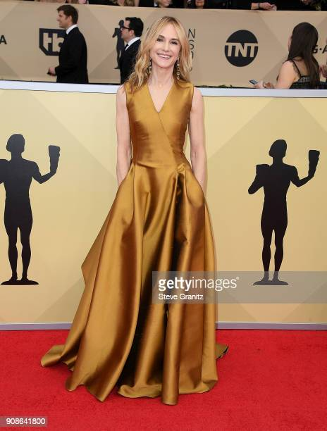Holly Hunter arrives at the 24th Annual Screen ActorsGuild Awards at The Shrine Auditorium on January 21 2018 in Los Angeles California