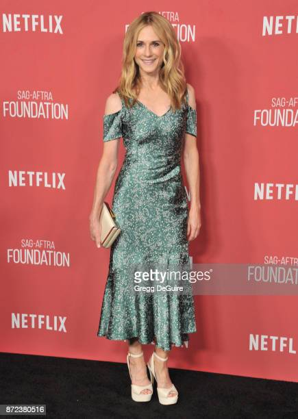 Holly Hunter arrives at the SAGAFTRA Foundation Patron of the Artists Awards 2017 on November 9 2017 in Beverly Hills California