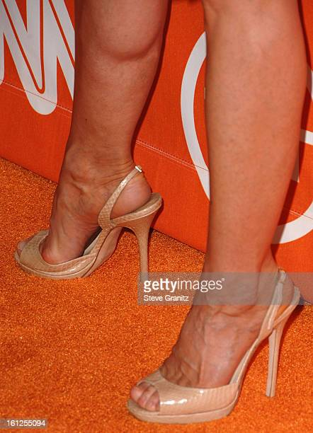 Holly Hunter arrives at the Turner Broadcasting TCA Party at The Oasis Courtyard at The Beverly Hilton Hotel on July 11 2008 in Beverly Hills...
