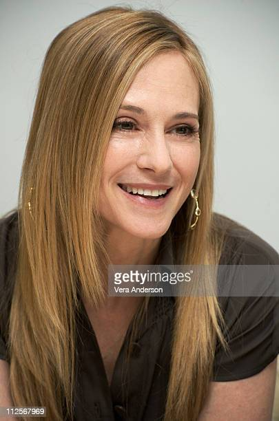 """Holly Hunter at the """"Saving Grace"""" press conference at the Four Seasons Hotel on March 20, 2009 in Beverly Hills, California."""