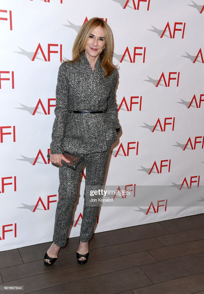 Holly Hunter attends the 18th Annual AFI Awards at Four Seasons Hotel Los Angeles at Beverly Hills on January 5, 2018 in Los Angeles, California.