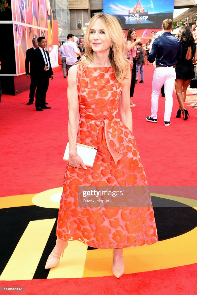 Holly Hunter attends the 'Incredibles 2' UK Premiere at BFI Southbank on July 8, 2018 in London, England.