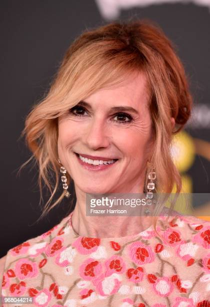 Holly Hunter attends the Premiere Of Disney And Pixar's Incredibles 2 at the El Capitan Theatre on June 5 2018 in Los Angeles California