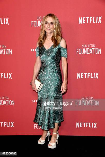 Holly Hunter attends the SAG-AFTRA Foundation Patron of the Artists Awards 2017 at the Wallis Annenberg Center for the Performing Arts on November 9,...
