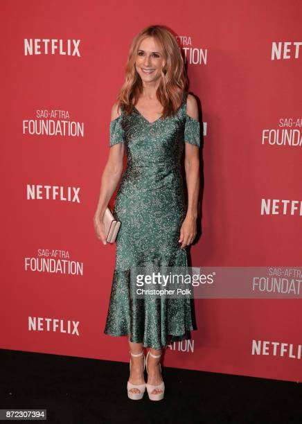 Holly Hunter attends the SAGAFTRA Foundation Patron of the Artists Awards 2017 at the Wallis Annenberg Center for the Performing Arts on November 9...