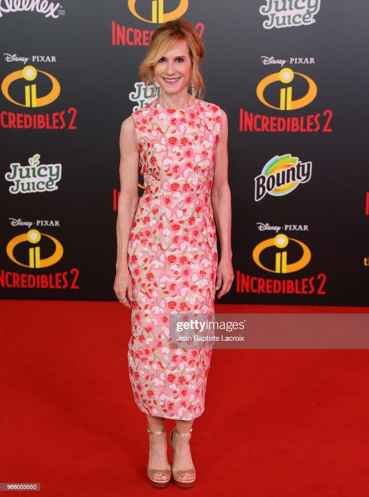 Holly Hunter attends the World Premiere of Disney and Pixar's 'Incredibles 2' held on June 5, 2018 in Los Angeles, California.