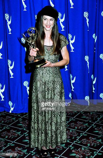 Holly Hunter during 1993 Emmy Awards Press Room in Los Angeles CA United States