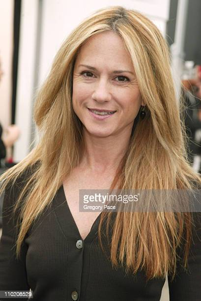 Holly Hunter during Olympus Fashion Week Spring 2005 Vera Wang Front Row and Backstage at Theater Tent Bryant Park in New York City New York United...
