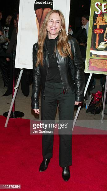 Holly Hunter during 'Secretary' Premiere New York at Clearview Chelsea West Theater in New York City New York United States