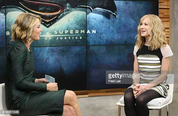 AMERICA Holly Hunter is a guest on 'Good Morning America' 3/11/16 airing on the ABC Television Network AMY