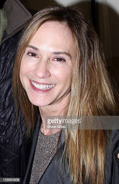 Holly Hunter poses backstage at the hit play 'The Normal Heart' on Broadway at The Golden Theater on May 4 2011 in New York City