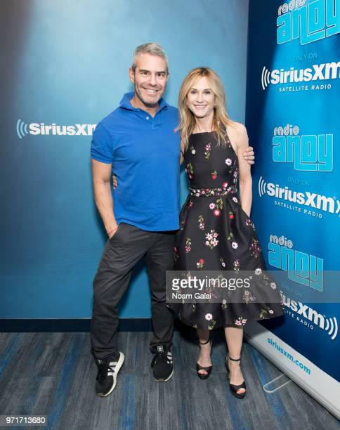 Holly Hunter visits Radio Andy with Andy Cohen at the SiriusXM Studios on June 11 2018 in New York City