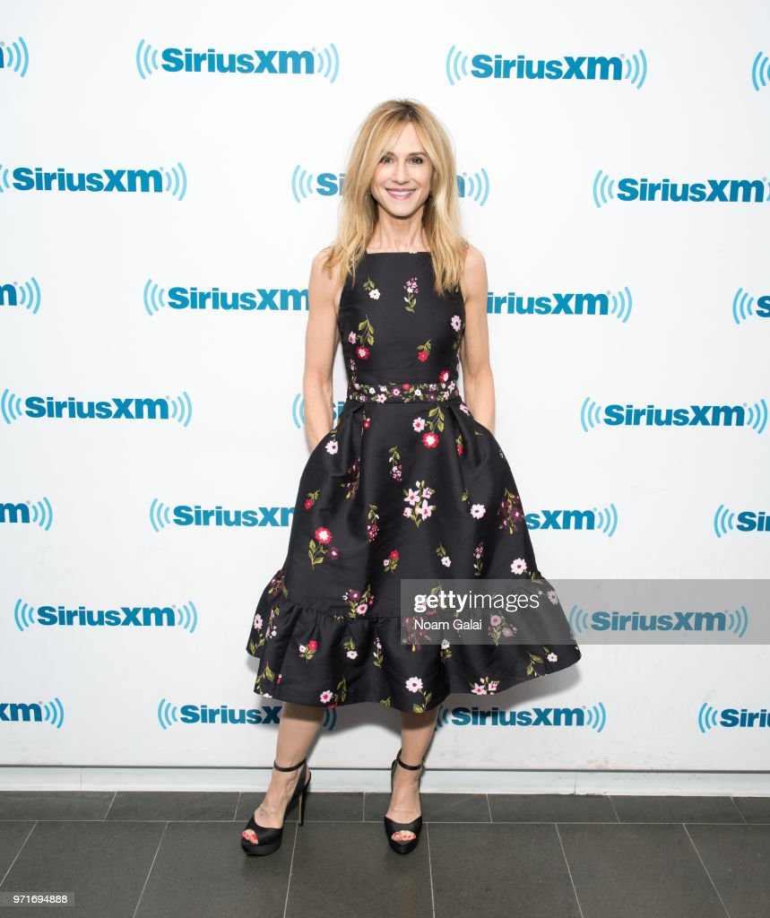 Holly Hunter visits the SiriusXM Studios on June 11, 2018 in New York City.