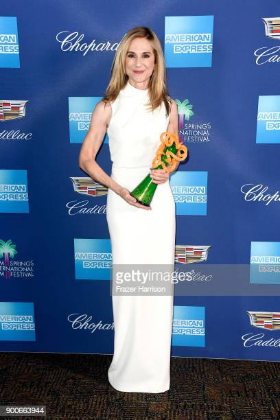 Holly Hunter winner of the Career Achievement Award attends the 29th Annual Palm Springs International Film Festival Awards Gala at Palm Springs...