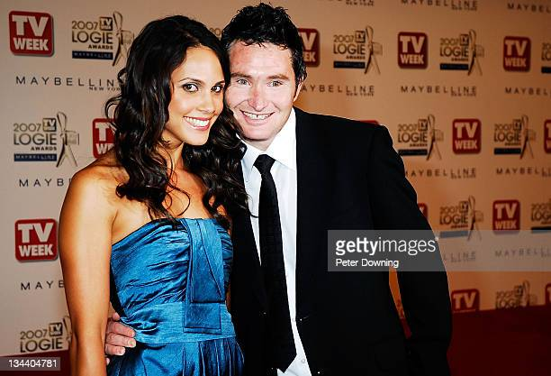 Holly Ife and Dave Hughes during 2007 TV Week Logie Awards Arrivals at Crown Casino in Sydney NSW Australia