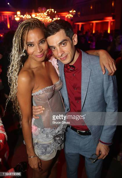 Holly James and Michael Levine pose at the opening night party for the new musical based on the film Moulin Rouge The Musical on Broadway at The...
