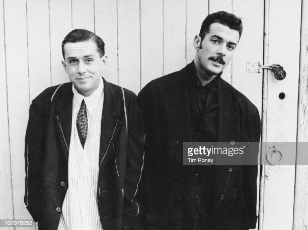 Holly Johnson and Paul Rutherford of English pop group Frankie Goes To Hollywood circa 1983