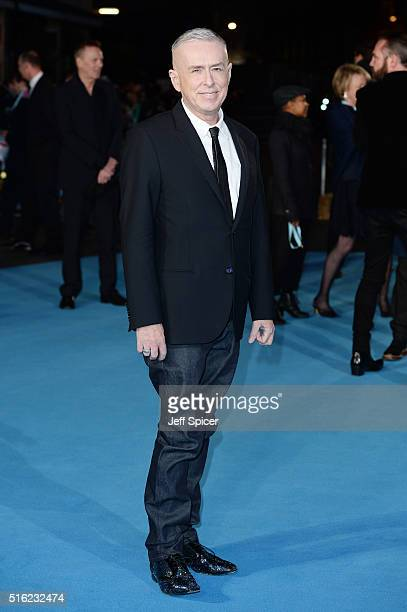 Holly Johnson arrives for the European premiere of 'Eddie The Eagle' at Odeon Leicester Square on March 17 2016 in London England