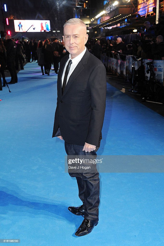 Holly Johnson attends the European premiere of 'Eddie The Eagle' at Odeon Leicester Square on March 17, 2016 in London, England.